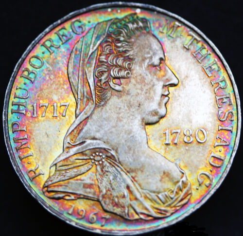 1967 Austria 25 Shilling Proof Gorgeous Rainbow Toning