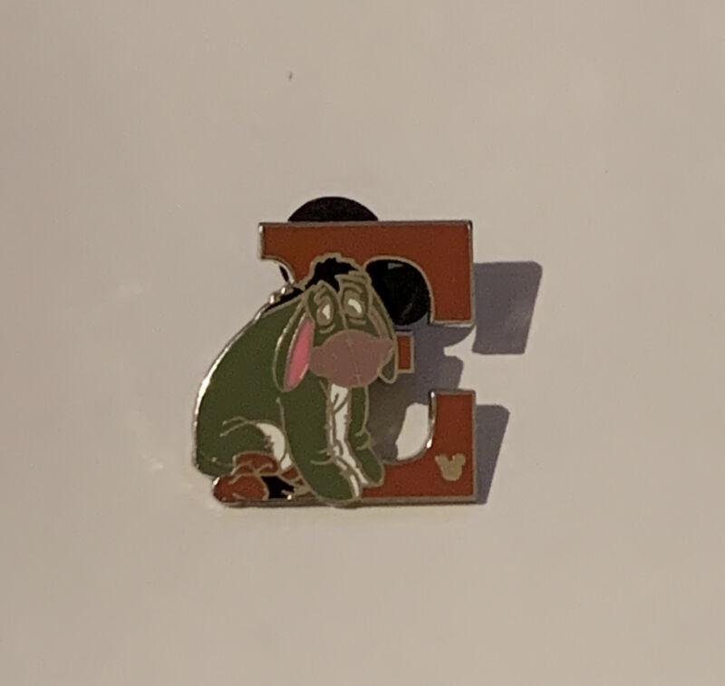 Disney DLR - 2011 Hidden Mickey Alphabet Letter Collection E For Eeyore Pin