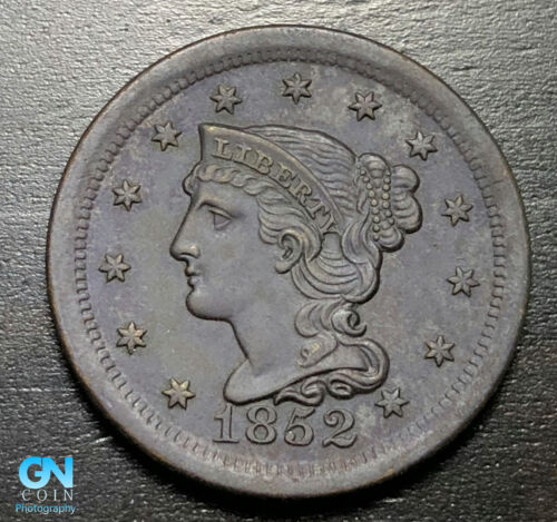 1852 Braided Hair Large Cent --  MAKE US AN OFFER!  #B3300