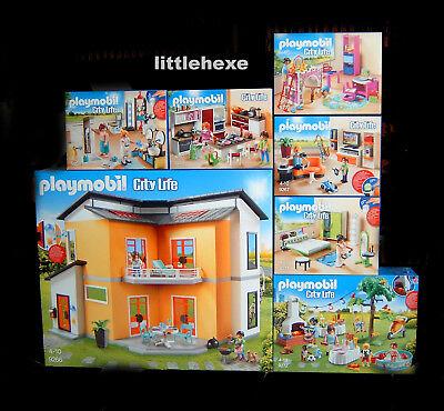 Playmobil Modernes Wohnhaus Komplett-Set 7-teilig 9266, 9267, 9268, 9269 NEU/OVP