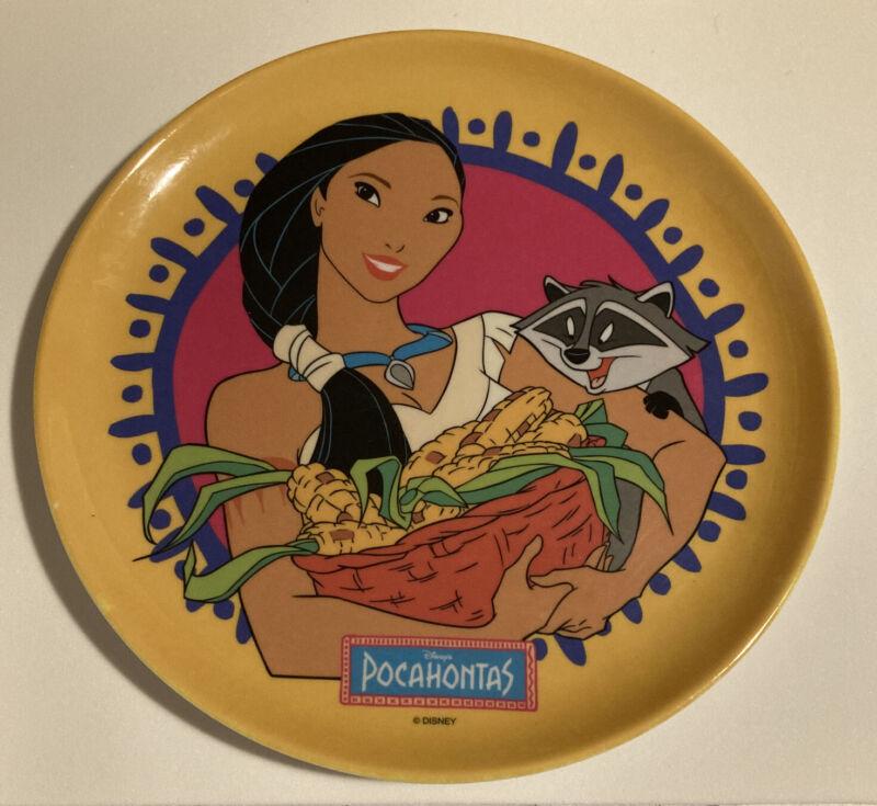 Vintage~DISNEY~*Pocahontas*~*Meeko*~Melamine Plate~Disney Princess~ Zak Designs