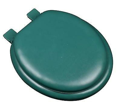 - Hunter Green Soft Padded Cushion Toilet Seat Round Standard Size New Solid Color