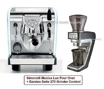 Simonelli Musica Lux Pour Over Espresso Machine + Baratza Se