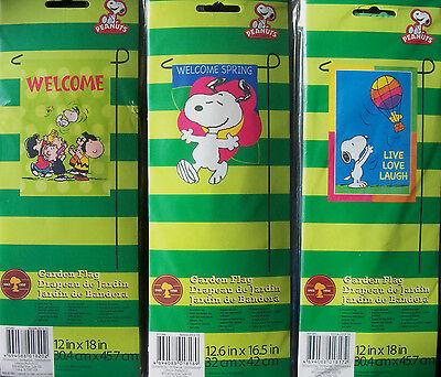 Snoopy Summer (Snoopy & Woodstock  Spring/Summer Mini Garden Flag  12 x 18  NIP--CHOOSE)