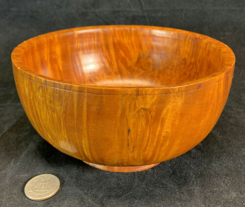 Early to Mid 19th Century Burl Maple Wood Turned Antique Bowl