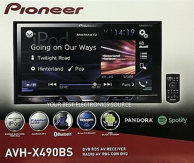 NEW Pioneer AVH-X490BS 2-DIN Bluetooth DVD/CD/AM/FM Car Stereo 7