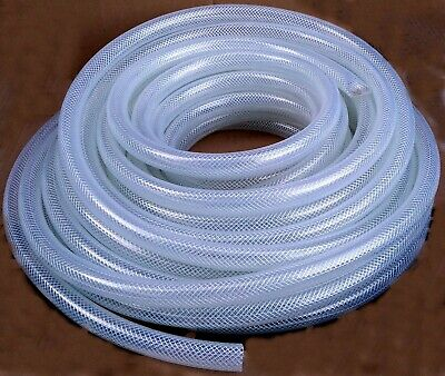 Tubing Clear Braided Vinyl 58 Id X 55 Feet 12 Mpt Hose Adapter For Fleck