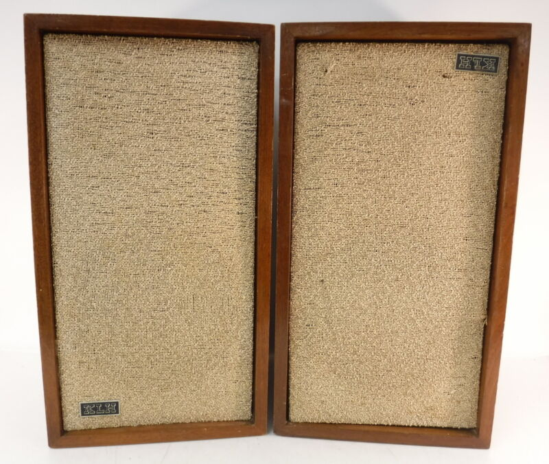 Pair of VTG KLH Model Six 6 Speakers Wood Cabinetry Acoustics TESTED WORK GREAT!