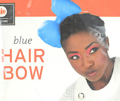 Blue Hair Bow - Halloween Costume Accessory](Blue Haired Halloween Costumes)