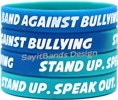 Anti Bullying Color (20 Band Against Bullying Bracelets - Anti Bully Wristband Debossed Color)