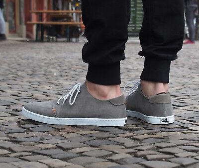 HUB Footwear Schuhe Boss greyish/white Sneakers Canvas Sommerschuh Herren NEU