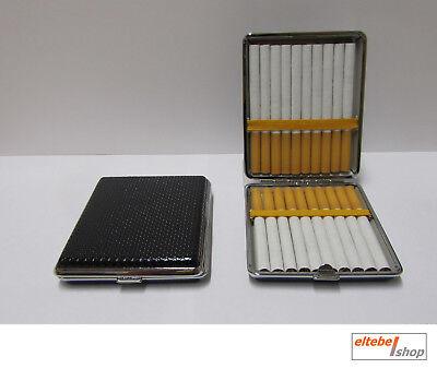 ☆ Zigarettenetui - CLASSIC long size 100 schwarz - 20 Zigaretten (Zigarettenbox)