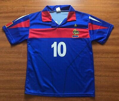 1904437c3f9 Vtg France Zinedine Zidane UEFA Euro 2004 Football Jersey Mens S Soccer  Shirt Bl for sale