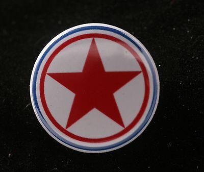 Dprk North Korea Korean Peoples Air Force Roundel Communist 1  Button Badge Pin
