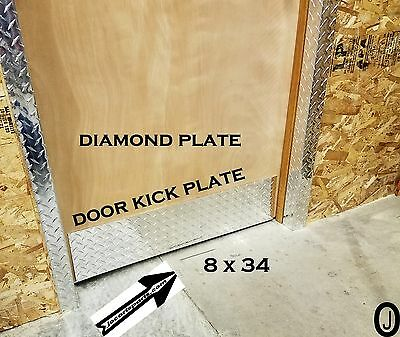 Door Kick Plate Highly Polished 3003 grade Aluminum Diamond Plate 8