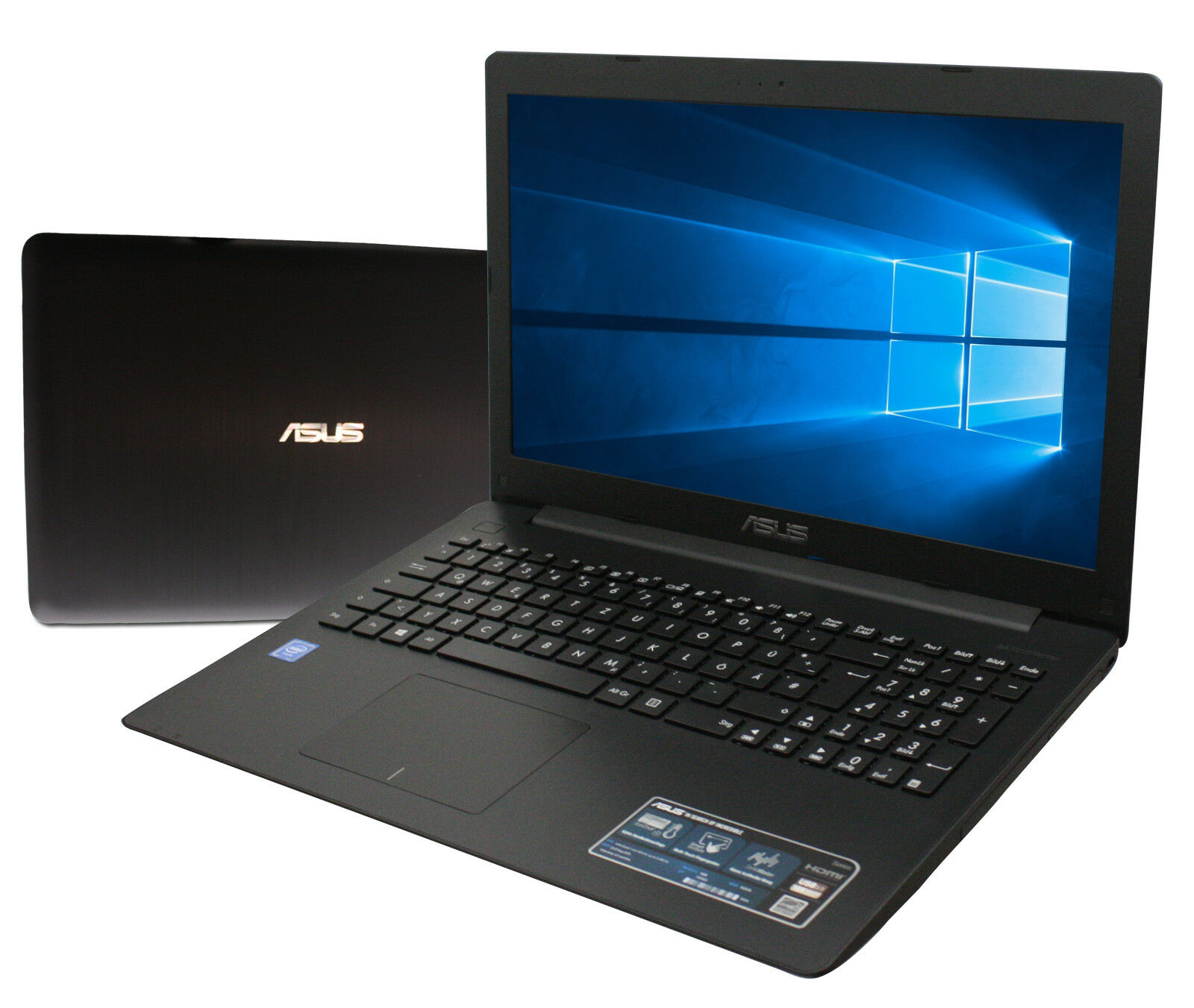 ASUS F751NA Notebook 17 Zoll HD+ Quad Core 4 x 2,5GHz 4GB 500GB Win10 Schwarz