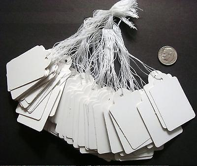 100 White Paper Jewelry Price Tags Large Write On Label 1 78 X 1 316 Pt010
