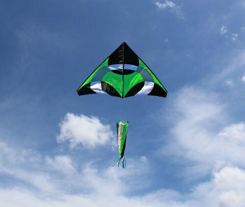 Ring Kite (Green) 6.5x8 ft giant delta easy flyer kite kites includes windsock
