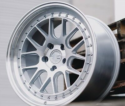 AODHAN DS06 18X8.5 +35 5X114.3 Silver w/ Machined Lip (Set of 4)