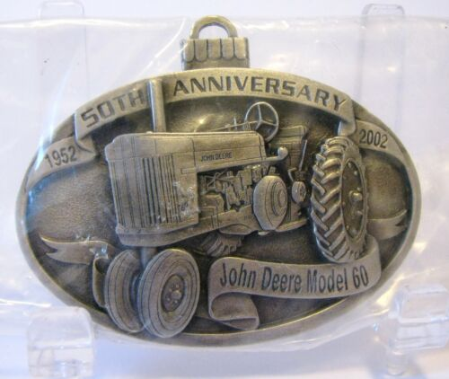 John Deere 60 Two-Cylinder Tractor 2002 Pewter Christmas Ornament 50th Anniv  jd