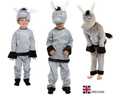 Shrek Girl Kostüm (Kids DONKEY FANCY DRESS COSTUME Animal Boys Girls Child Book Week Shrek Outfit)