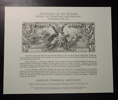 American Numismatic Assoc - 1973 MINT SOUVENIR CARD - 82nd Anniv. Convention