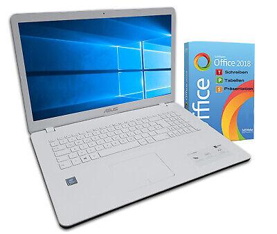 ASUS F705M Notebook 17 Zoll HD+ Quad Core 4 x 2,7GHz 4GB 500GB Win10 Weiß OFFICE 4 Gb Core