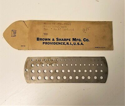 Vtg Brown Sharp Twist Drill Gage 1- 60 Hardened No 705 New Old Stock