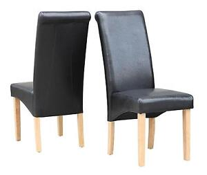 faux leather dining chairs ebay. leather dining chairs faux ebay e