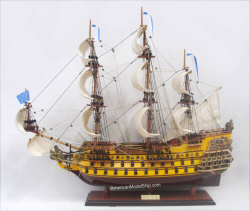 "Soleil Royal Tall Ship Model 30"" - Handmade Wooden Model Boat NEW"