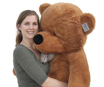 "Joyfay® 63"" 160cm Dark Brown Giant Teddy Bear Huge Toy Christmas Gift"