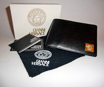 Gianni Versace Black Leather Medusa Head Wallet. Rare Vintage 1990s.Never Used.
