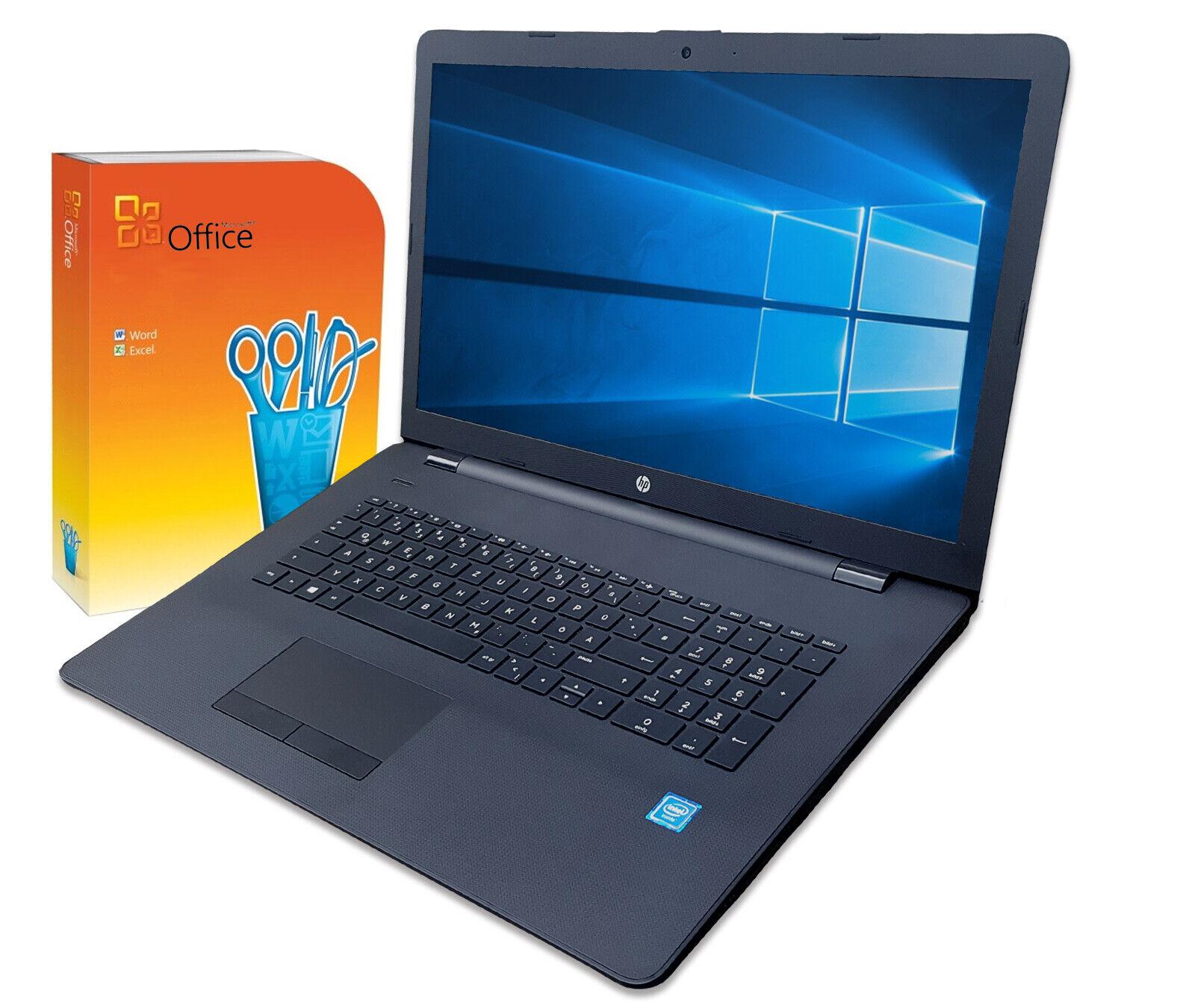 #HP Notebook 17 Zoll HD+ Intel  2x 2,60GHz  8GB 256  Win10 / Office2010