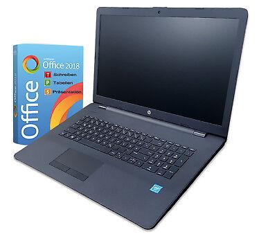 HP Notebook 17 Zoll / 2 x 2,60Ghz / 8GB / 1TB HDD / DVD-RW / Win10 / Office 2018 8 Gb Dvd