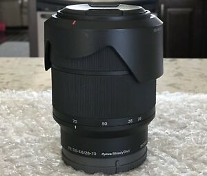 (10/10) Sony E-Mount 28-70mm f/3.5-5.6 OSS Lens (Retail at $525)
