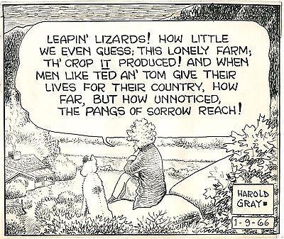 Original Art HAROLD GRAY Sunday Comic Strip Page LITTLE ORPHAN ANNIE 1966