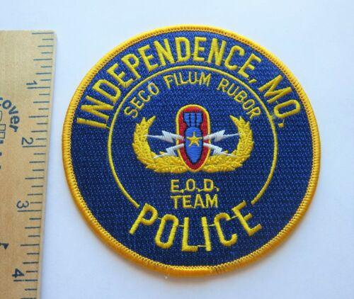 INDEPENDENCE MISSOURI POLICE EOD TEAM PATCH Vintage Original