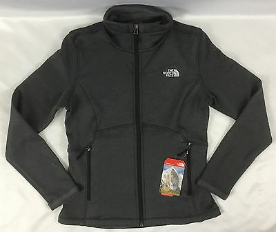 The North Face Women Agave Fleece Jacket Whole Zip TNF Black Heather Size M