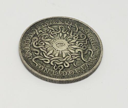 1921 Morgan Dollar Hobo Nickel Coin all seeing eye of snakes