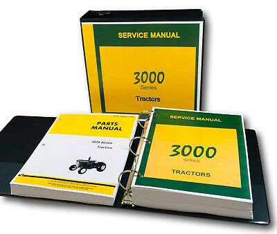 Service Manual Set For John Deere 3010 Tractor Parts Tech Shop Repair Catalog