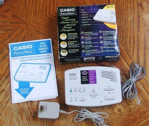 Casio PhoneMate TA-111 Digital Answering Machine 1998 Unused In Original Box
