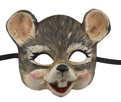 Mask from Venice Mouse Grey in Paper Mache for Small Face Child 2419 V16