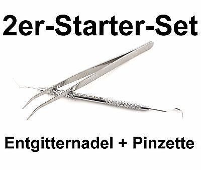 2er Entgitter-Set Startpaket Entgitternadel+Pinzette Flex Flock Car-Wrap Plotter