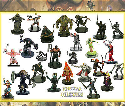 10 PLAYER CHARACTER Miniatures PACK LOT - Dungeons & Dragons / Pathfinder PC/NPC