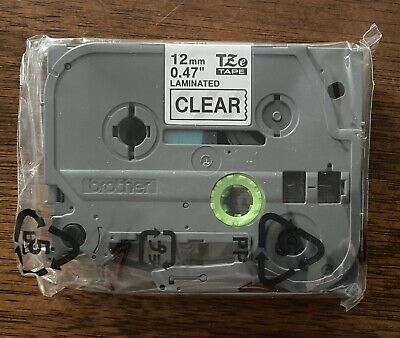 Genuine Brother Label Tz Tape Refill Tze-131 Black On Clear 12mm .47 New Sealed