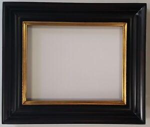 elegant black and gold closed corner frame 3 wide 11 x 14 or 16 x 20. Black Bedroom Furniture Sets. Home Design Ideas