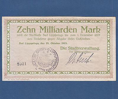 Bad LIPPSPRINGE  10 Milliarden Mark 1923  II+ / XF+
