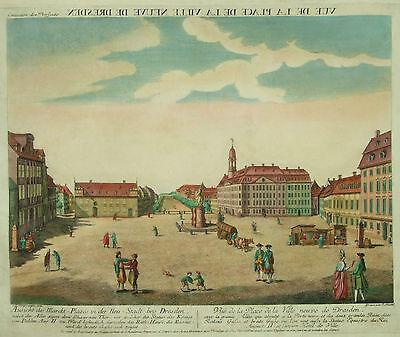 Guckkastenblatt von Dresden - Neustädter Markt - Original von G. Riedel um 1780