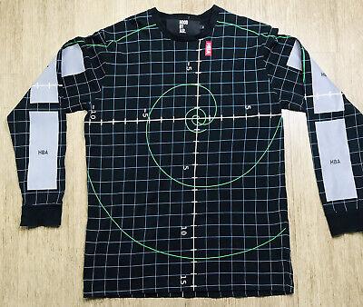 Hood By Air HBA Long Sleeve Shirt Mens Size XL Grid Black EUC!