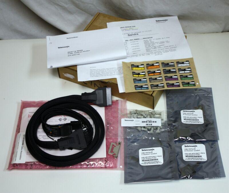 NEW Tektronix P6417 Probe Set,  w 2 x 8 Channel Leadset, 1 x 1 Ch, 20 Klip Chip